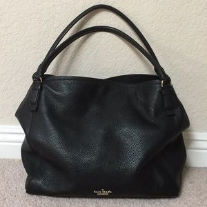 Kate Spade pebbled leather tote-black